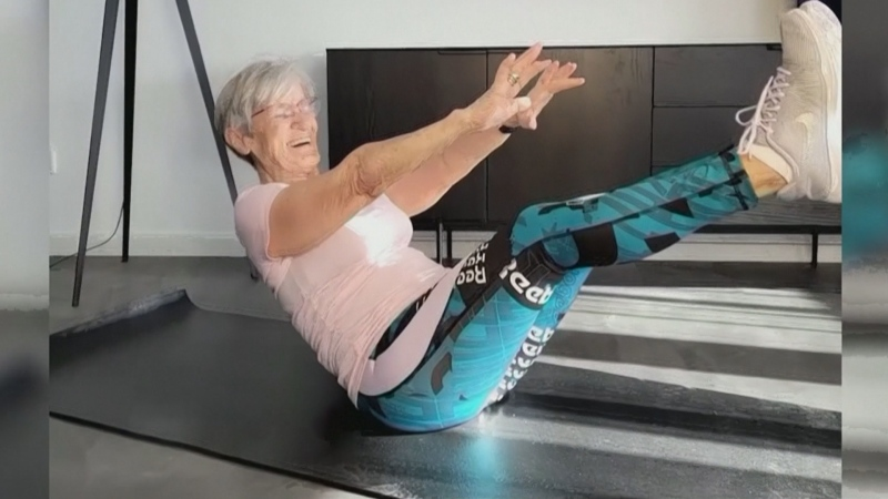 81-year-old grandma posting amazing workout videos