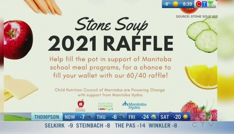 The Child Nutrition Council of Manitoba needs to raise more funds with its online Stone Soup 2021 Raffle. Rachel Lagacé has more.