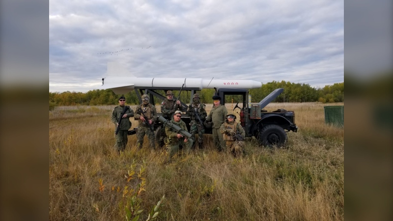 Airsoft enthusiasts in Manitoba are pictured in an undated image. The new federal handgun ban legislation has people who practice the hobby concerned it will have a negative impact. (Photo submitted by Daniel Gustowski)