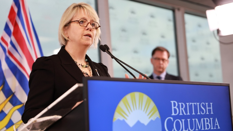 Chief provincial health officer Dr. Bonnie Henry and Health Minister Adrian Dix a provide an update on COVID-19 on February 5, 2021: (Province of B.C. / Flickr)