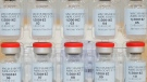 This Dec. 2, 2020 photo provided by Johnson & Johnson shows vials of the Janssen COVID-19 vaccine in the United States. (Johnson & Johnson via AP)