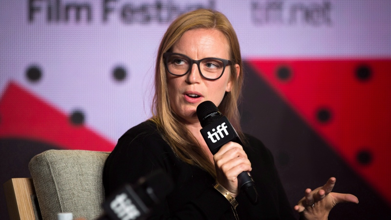 "Sarah Polley speaks during a press conference for ""Alias Grace"" at the Toronto International Film Festival on Tuesday, September 12, 2017. THE CANADIAN PRESS/Chris Donovan"
