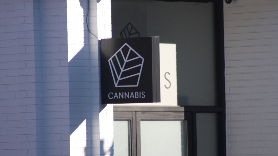 Canvas Cannabis sign on Danforth Avenue in Toronto