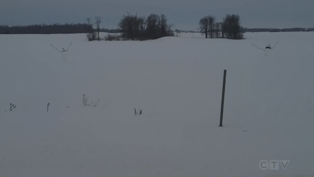 Students create more than 100 snowmen along Perth County road