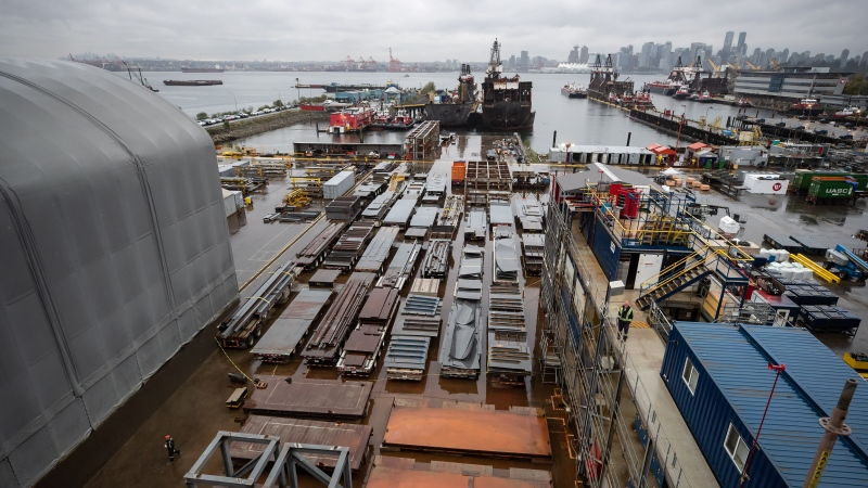 This file photo shows Seaspan Shipyards in North Vancouver, B.C., Friday, Oct. 9, 2020. THE CANADIAN PRESS/Darryl Dyck