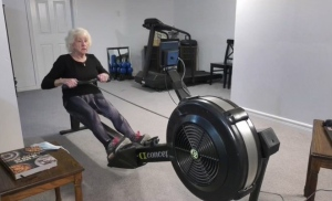 Alida Kingswood, 89, set a record for rowing