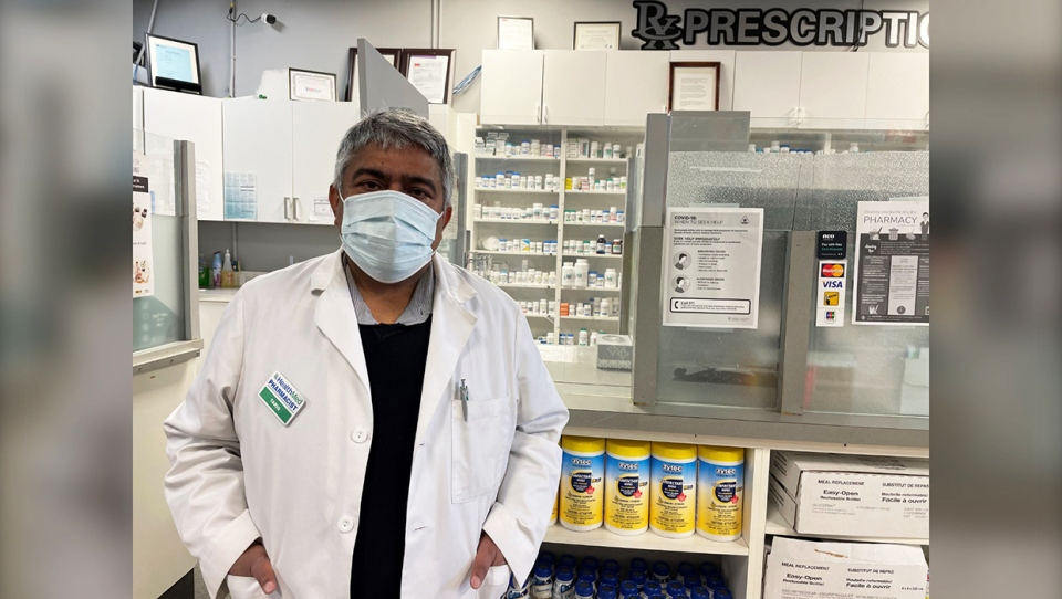 Tariq Fareeby, who owns and manages two Calgary Drug Mart locations said he was robbed at gunpoint in the early hours of Nov. 12 after an armed suspect came into his Lincoln Park location. Several of his pharmacist friends were also robbed and many are scared as doses of COVID-19 vaccine will soon be administered at several pharmacies across Calgary.