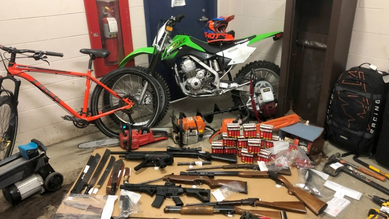 Some of the suspected stolen property recovered by RCMP. (RCMP handout)