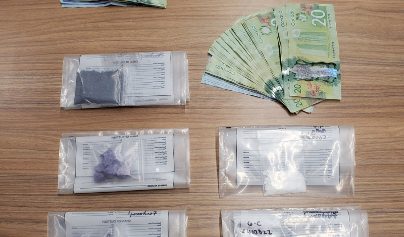 Ontario Provincial Police in Parry Sound executed a drug search warrant at a Bowes Street residence Feb. 24, seizing more than $30,000 in suspected cocaine and fentanyl and more than $3,460 in cash. (supplied)