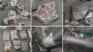 Items seized by police in a search warrant in Kitchener (Supplied: WRPS)