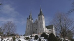 Martyrs Shrine in Tay Township, Ont. is a popular destination for thousands of tourists each year. Feb. 25, 2021 (Rob Cooper/CTV News)