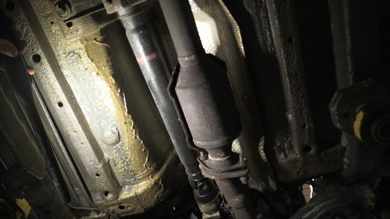 Thieves taking catalytic converters from cars