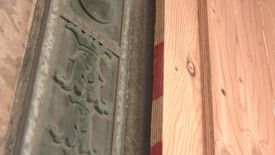 bay doors winnipeg boarded up