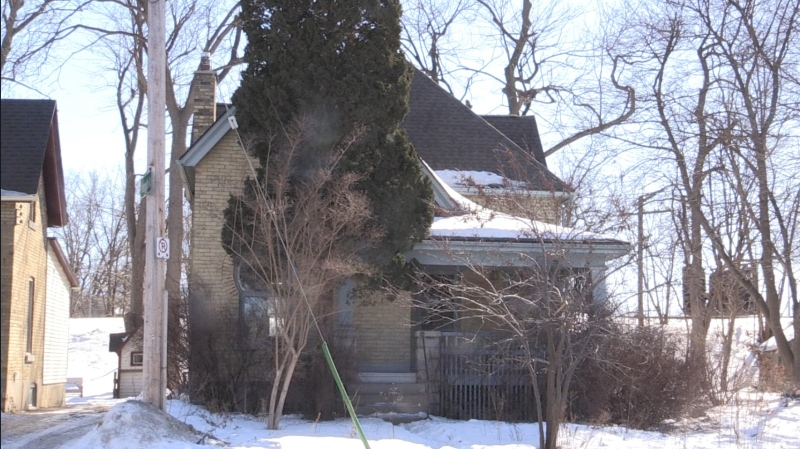 The heritage home at 100 Stanley St. in London, Ont. is seen Thursday, Feb. 25, 2021. (Daryl Newcombe / CTV News)