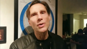 Juno Award-nominated pianist John Stetch is seen in a video posted to Facebook on Saturday night that shows people eating, drinking and socializing.