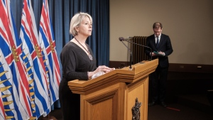 B.C. provincial health officer Dr. Bonnie Henry speaks in Victoria on Feb. 23, 2021. (Province of B.C./Flickr)