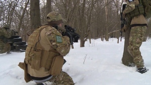 People participate in an airsoft game in Edmonton in this file photo: (CTV News)