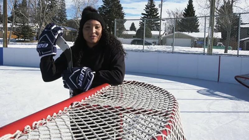 Medal-winning Canadian hockey player Saroya Tinker launched a scholarship fund to help young Black women play hockey