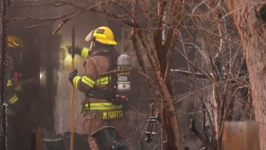 Fire crews responded to a two alarm fire in southeast Calgary late Thursday afternoon. No one was injured in the fire.