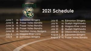 Saskatchewan Rattlers 2021 Schedule