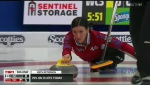 The win gave the young Manitoba-based skip a top-four spot in Pool A at 5-3 and a berth in the championship pool in her first appearance at the Scotties Tournament of Hearts.