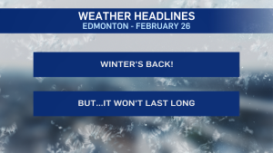 Feb 26 Edmonton weather