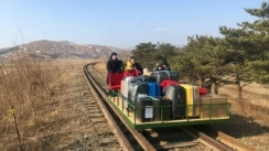 Eight Russian diplomats and family members, the youngest of them a three-year-old girl,have arrived home from North Korea on a hand-pushed rail trolley due to Pyongyang's coronavirus restrictions. (AFP)
