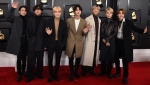 FILE - In this Jan. 26, 2020 file photo, K-pop band BTS arrives at the 62nd annual Grammy Awards in Los Angeles. The band donated $1 million to Black Lives Matter campaign. (Photo by Jordan Strauss/Invision/AP, File)