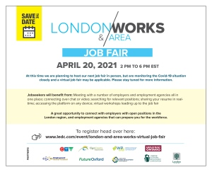 London and Area Work Job Fair April 20, 2021