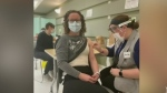 Sudbury front-line hospital workers get vaccinated