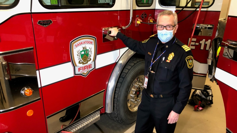 Wayne Rodger is retiring after 25 years with the Saskatoon Fire Department (Laura Woodward/CTV News)