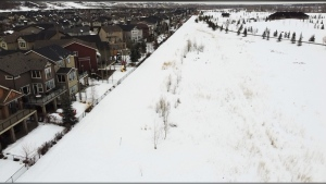 Residents of a southeast Calgary neighbourhood are concerned about a proposal to build a new development with over 300 homes near their homes.