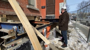 A Centretown family decided to lift their home instead of moving to create a basement. Ottawa, ON. Feb. 26, 2020. (Tyler Fleming/CTV News Ottawa)