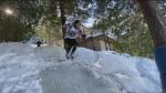 Homemade ice cross downhill track
