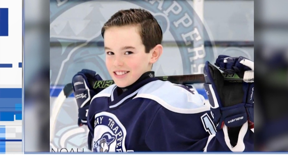 EA Sports is honouring a former North Bay hockey player's legacy in a unique way. After being approached by a family friend, the video game giant has added Noah Dugas in their latest video game NHL 21 as a playable character. (Photo from video)