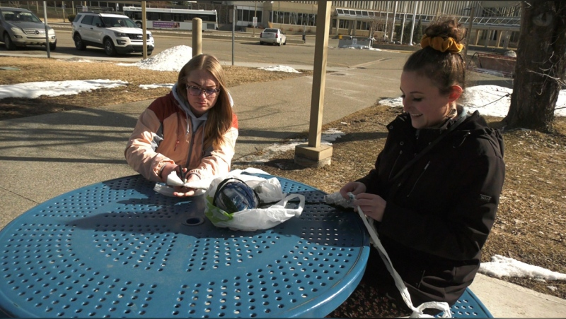 For a group of social work students in Lethbridge, those bags that you might think are just taking up space present an opportunity to help the homeless by making portable sleeping mats.