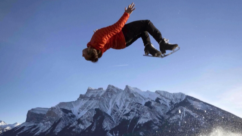 Millions have watched clips of Elladj Baldé gliding over frozen lakes in the Rockies and doing backflips.