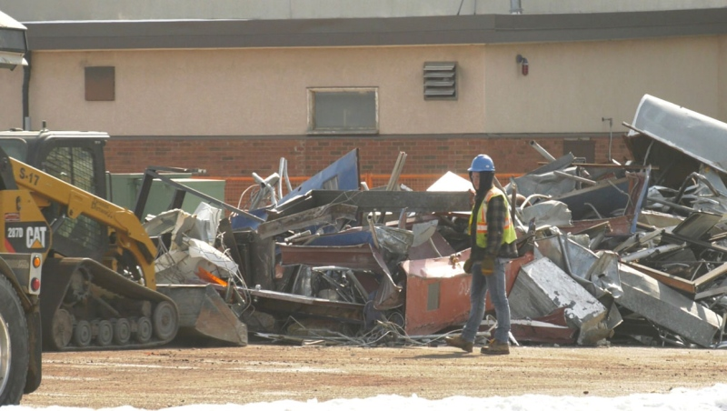 Through a city program, almost the entire amount of material from the demolished YMCA building in south Lethbridge was diverted from the landfill.