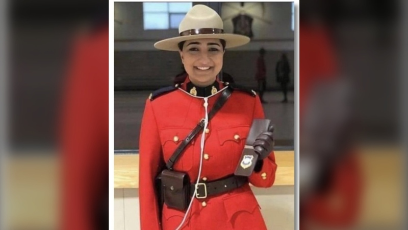 The deceased officer has been identified on social media as Const. Jasmine Thiara, and an announcement from the RCMP Veterans' Association acknowledges Thiara's death, though it does not provide any information on how she died. (RCMP Veteran's Association)