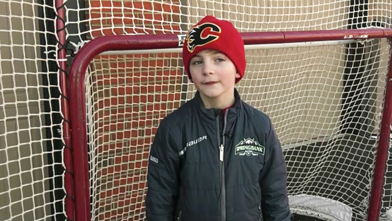 The pandemic cancelled hockey, so eight-year-old Taylor Hangs took on the 10,000 shot challenge. Now he's our Athlete of the Week.