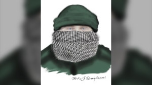 Toronto police have released a sketch of a man wanted in connection with a robbery investigation. (TPS handout)