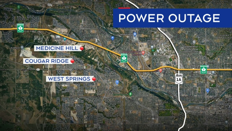 "Approximately 2,000 homes were without power Friday evening after what ENMAX says was a ""complex"" issue."