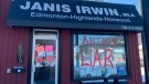 New Democrat MLA Janis Irwin's office was vandalized overnight on Friday, Feb. 26, 2021 (Twitter)