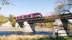 The Bombardier Talent trains were used on the original O-Train starting in 2001. (Photo courtesy: Twitter/OC_Transpo)
