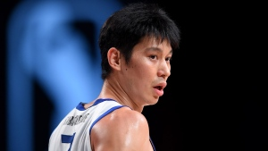 Jeremy Lin of the Santa Cruz Warriors looks on during a game against the Delaware Blue Coats on February 12. (Juan Ocampo/NBAE/Getty Images/CNN)