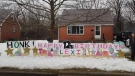 Birthday signage for Lexi's 12th birthday outside of her home in St. Thomas (Jordyn Read / CTV News)