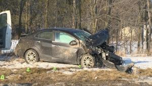 Serious crash outside Cambridge