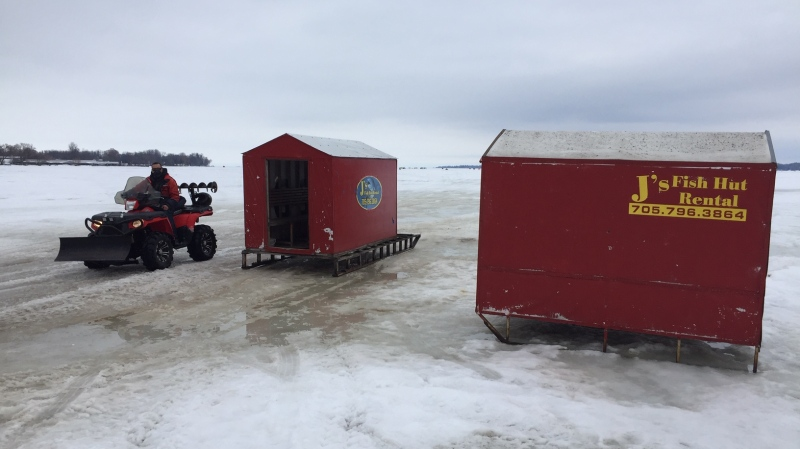 J's Fish Hut, in Innisfil, Ont. on Feb 27, 2021 (CTV Barrie Steve Mansbridge)