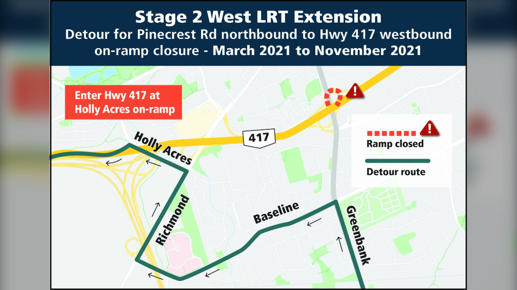 Ottawa on-ramp closure