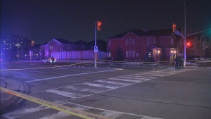 Peel police are investigating after a female pedestrian was struck by a vehicle in Mississauga.